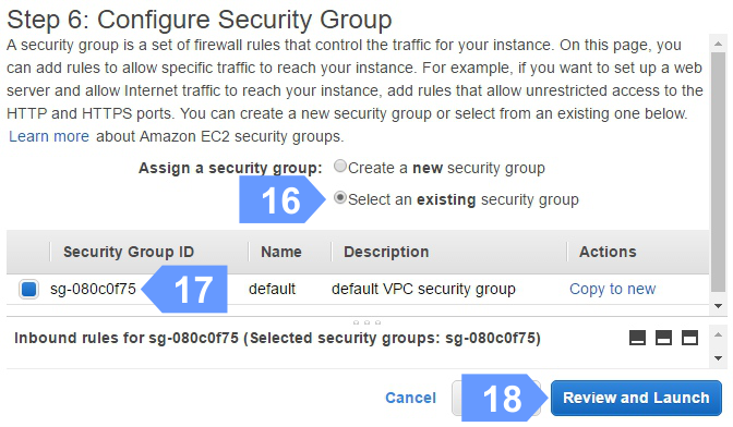 How to configure your Cloud Instance Security Group