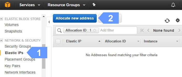 How to setup Ellastic IP address