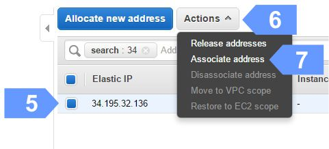 How to associate new Elastic IP address
