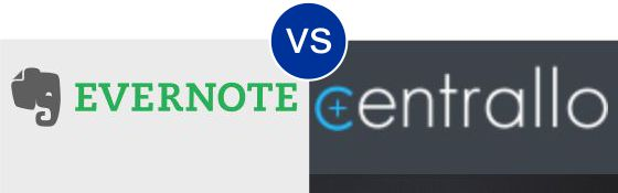 Evernote vs Centrallo
