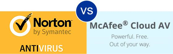 Norton Antivirus vs Mcafee Cloud AV
