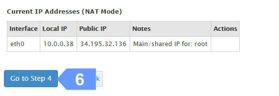 Confirm your cloud server IP address