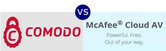 Comodo Cloud Antivirus vs McAfee Cloud AV