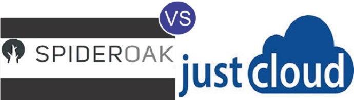 SpiderOak vs JustCloud