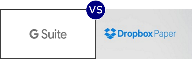 G Suite vs Dropbox Paper
