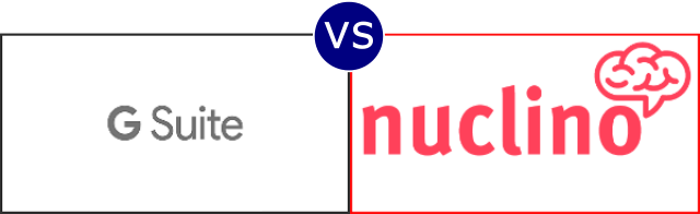 G Suite vs Nuclino