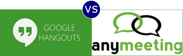Google Hangouts vs AnyMeeting