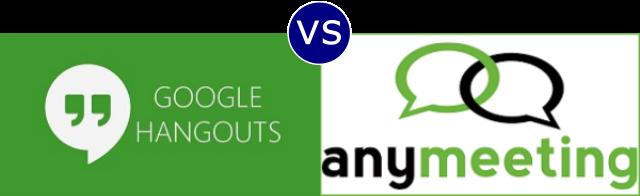 Google Hangouts vs AnyMeeting