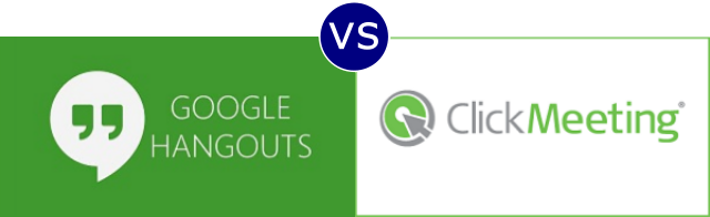 Google Hangouts vs ClickMeeting