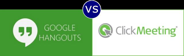 Google Hangouts vs ClickMeeting