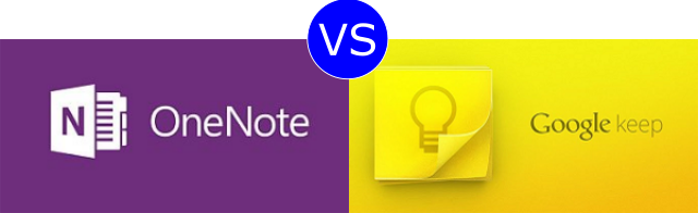 OneNote vs Google Keep