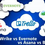Trello vs Wrike vs Evernote vs Asana vs Basecamp
