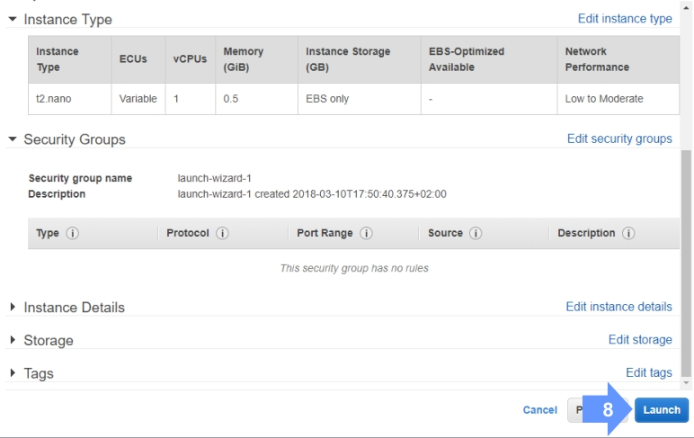 Importing key pair for your cloud EC2 Instance.